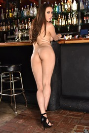 Casey Calvert Strips Off Her Pink Dress In A Bar 08