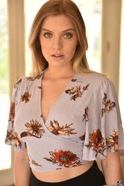 Giselle Palmer  In Floral Dress 02