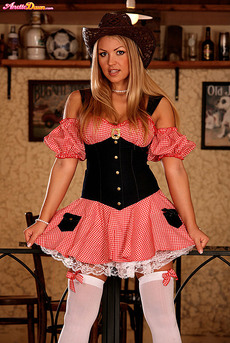 Anette Dawn Stockings And Cowgirl Hat 02