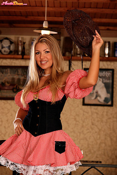 Anette Dawn Stockings And Cowgirl Hat 03
