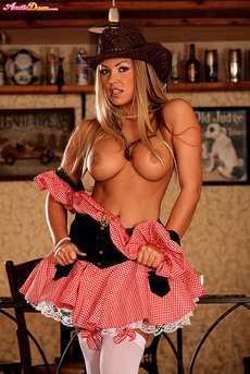 Anette Dawn Stockings And Cowgirl Hat 05