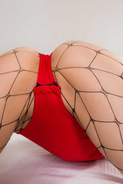 Hot Bunny Alessa Savage In Sexy Fishnet Stockings 06