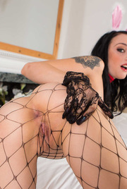 Hot Bunny Alessa Savage In Sexy Fishnet Stockings 08