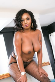 Chubby Ebony Babe Layton Benton Gets Nailed 08