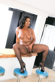 Chubby Ebony Babe Layton Benton Gets Nailed 10