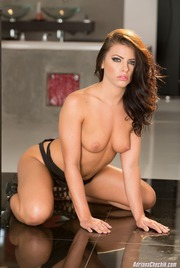 Adriana Chechik Strips Off Her Sexy Black Lingerie 10