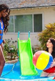 Wet Lesbians Ana Foxxx And Aria Alexander 00