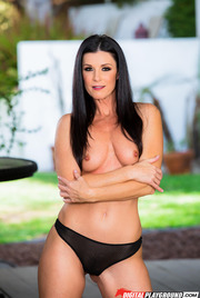 Dark Haired Beauty India Summer Gets Nude Outside 04