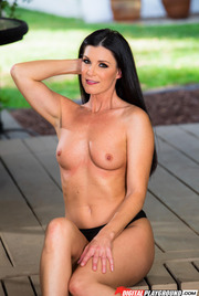 Dark Haired Beauty India Summer Gets Nude Outside 06