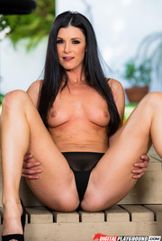 Dark Haired Beauty India Summer Gets Nude Outside 07