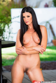 Dark Haired Beauty India Summer Gets Nude Outside 11