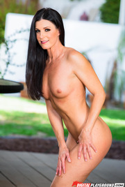 Dark Haired Beauty India Summer Gets Nude Outside 12