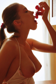 Busty Mila Azul Eating Some Fruits 09