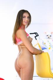 Round Assed Elena Koshka Undressing And Spreading 10