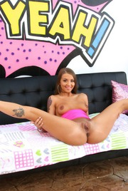 Hot Assed Avery Adair Spreads Pussy In Pink Top 07