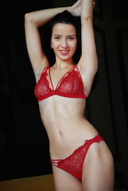 Hotter than the hottest tamale, Aurelia Perez is set to stun in her racy red, lacy lingerie 00