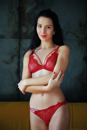 Hotter than the hottest tamale, Aurelia Perez is set to stun in her racy red, lacy lingerie 01