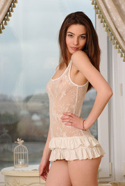 Brunette Beauty Caralyn Strips Off Her Sexy Babydoll 00