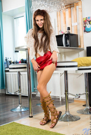 Red Mini Skirt 02