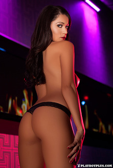 Hot Playmate Ali Rose Skinny Body In Purple And Blue Lights 03