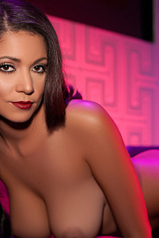 Hot Playmate Ali Rose Skinny Body In Purple And Blue Lights 06