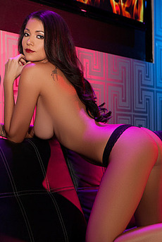 Hot Playmate Ali Rose Skinny Body In Purple And Blue Lights 07
