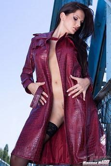 Sandra Shine Naked On Public Bridge 00
