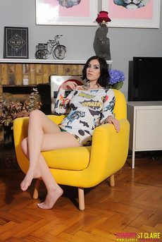 Summer St Claire Teasing In A Chair 00