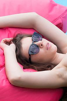 Hot Brunette Glam Dakota By The Pool 16