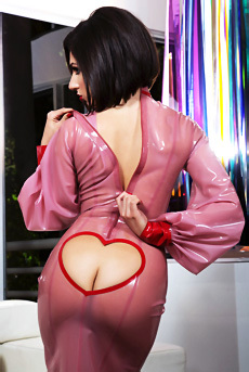 Darcie Dolce In Pink Latex Outfit