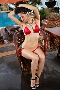 Gorgeous Vanessa Veracruz In Sexy Red Bikini