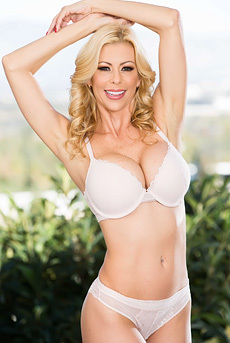 Busty Blonde MILF Alexis Fawx Gets Naked