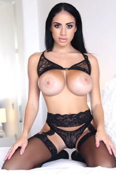 Big Tits In Black Lingerie