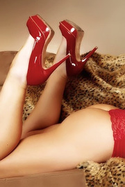 Alexis Ford Wears Sexy Red High Heels