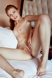 Gorgeous Shirley Tate Gets Nude On A Bed