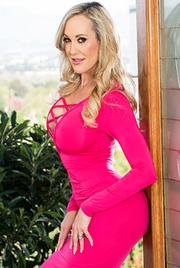 Curvy Brandi Love Strips Off Her Sexy Pink Dress