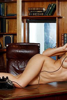 Busty Kayden Kross Getting Nude In The Office 19